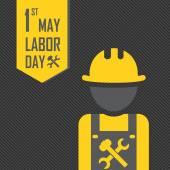 May 1st Labor (labour) day illustration — ストックベクタ