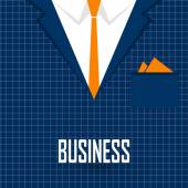 Business men's suit with tie — ストックベクタ
