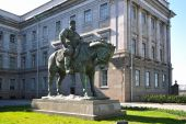 Pomnik cesarza Alexander Iii znajduje się w Saint Peters — Zdjęcie stockowe