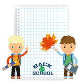 Back to school design. Vector illustration the sheet of paper in — Stock Vector