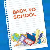 Вернуться к школе надпись — Cтоковый вектор
