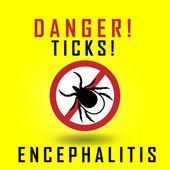 Warning ticks sign — Stock Vector