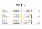 Calendar for 2016 year background — Stock Vector