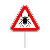 Warning tick sign — Stock Vector