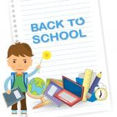 Tillbaka till skolan design. vektor illustration — Stockvektor