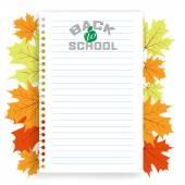 Torna a iscrizione scuola — Vettoriale Stock