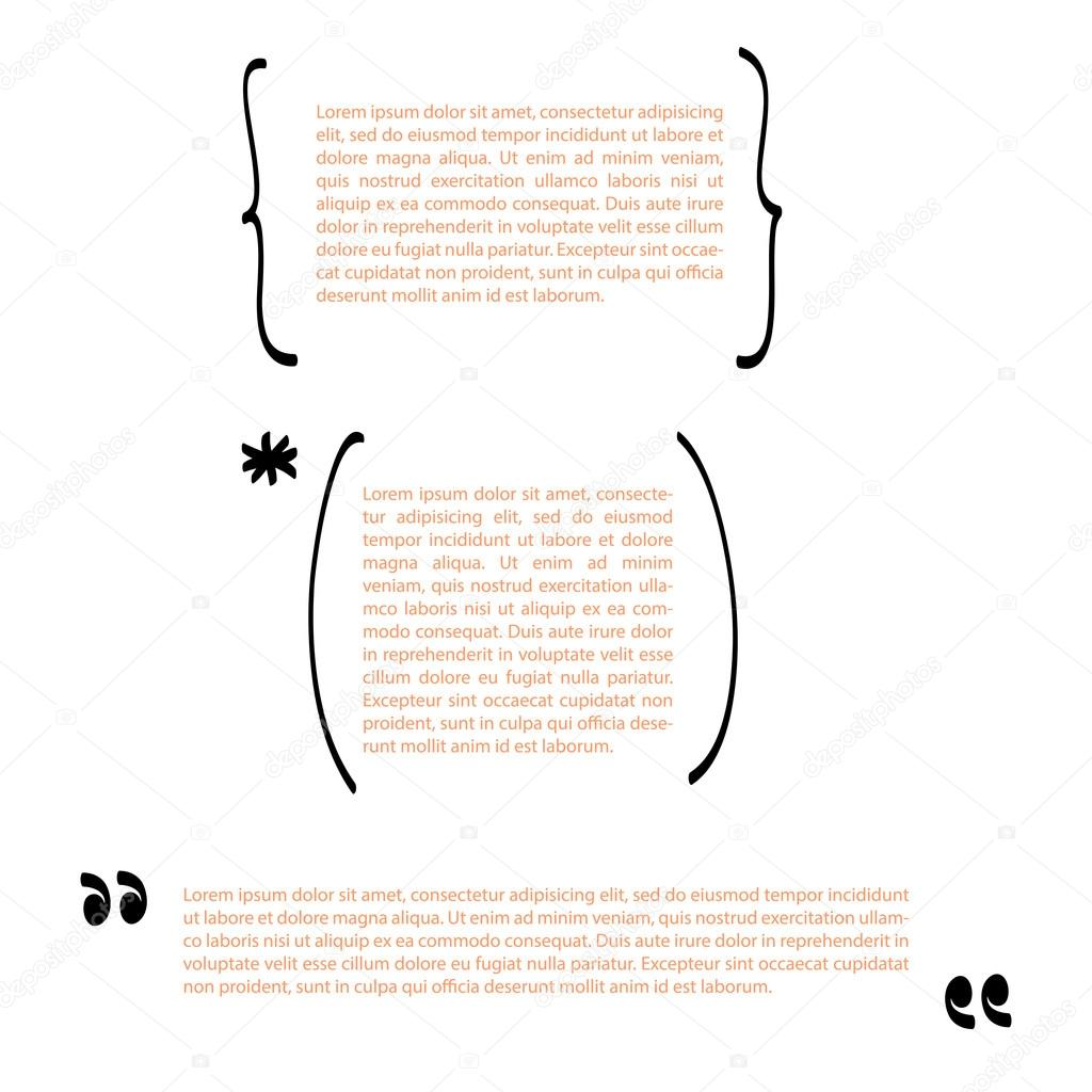 handwritten brackets and quotes template vector set quotes handwritten brackets and quotes template vector set quotes quote blank template empty template business card template paper sheet information