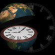Planet earth open as clock-watch — Stock Photo #59881533