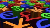 3D Render image of Currency Signs — Stock Photo