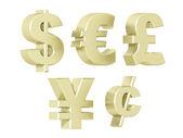 Currencies - Platinum — Stock Photo