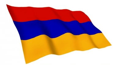 Animated flag of Armenia — Stock Video
