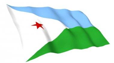 Animated flag of Djibouti — Stock Video