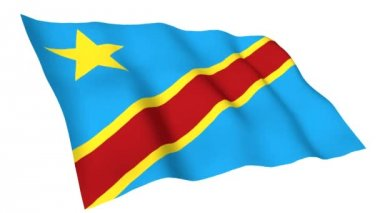 Animated flag of Democratic Republic Of Congo — Stock Video