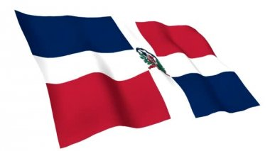 Animated flag of Dominican Republic — Stock Video