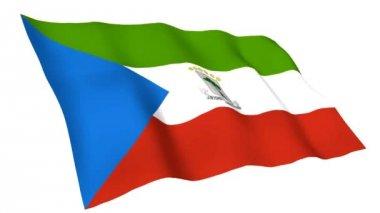 Animated flag of Equatorial Guinea — Stock Video