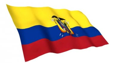 Animated flag ofEcuador — Stock Video