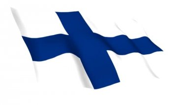 Animated flag of Finland — Stock Video