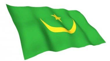 Animated flag of Mauritania — Stock video
