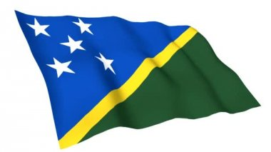 Animated flag of Solomon Islands — Vídeo de stock