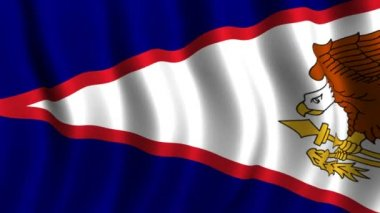 Flag of American Samoa — Stock Video