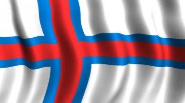 Flag of Faeroe Islands — Stock Video