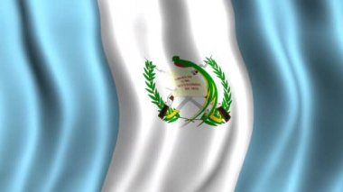 Flag of Guatemala — Stock Video