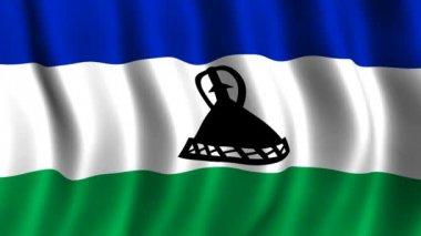 Lesoto bayrağı — Stok video