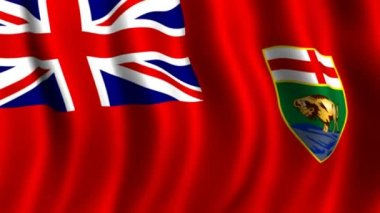 Flag of Manitoba — Stock Video