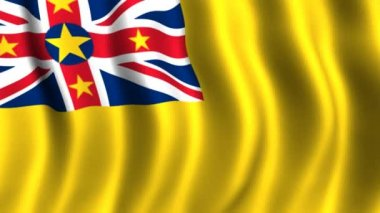Flag of Niue — Stock Video