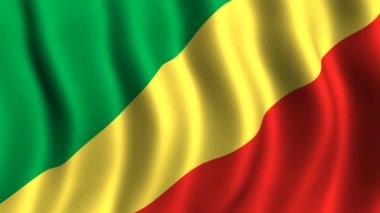 Flag of Republic of the Congo — Stock Video