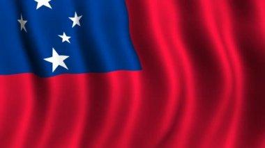 サモアの旗 — ストックビデオ
