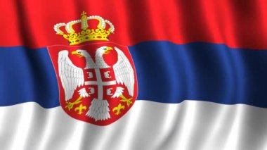 Flag of Serbia — Stock Video