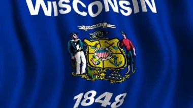 Flag of Wisconsin — Stock Video