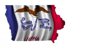 Flag of Iowa — Stock Video