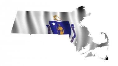 Flag of Massachusetts — Stock Video