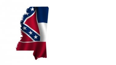Flag of Mississippi — Stock Video
