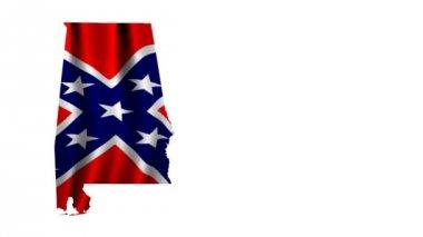 Battle Flag of Alabama — Stock Video