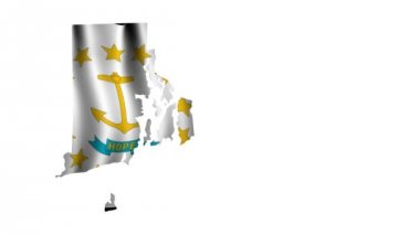 Flag of Rhode Island — Stock Video