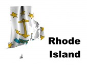 Flag of Rhode Island — Stock Photo