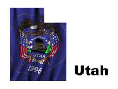 Flag of Utah — Stock Photo