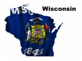 Flag of Wisconsin — Stock Photo