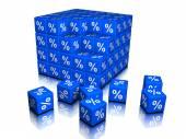 Percents symbols as cubes — Stock Photo