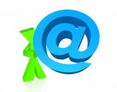Email symbol and character — Stock Photo