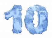 Icy number Ten — Stock fotografie