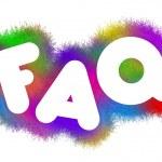 FAQ title — Stock Photo #64064715