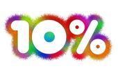 Ten percent — Stock Photo
