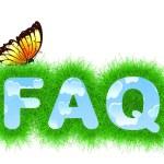 FAQ title — Stock Photo #72610241