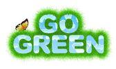 Go Green title — Stock Photo