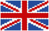 Uk drapeau jigsaw puzzle — Vecteur