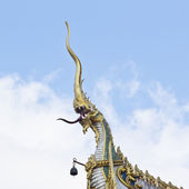 King of Nagas on churches in Saengarrun temples khonkaen city — Stockfoto